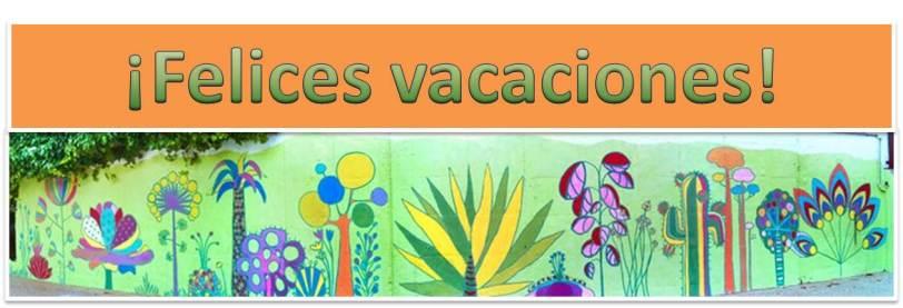 felices vacaciones muro