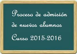 admision 2015-2016